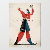 Cassius Play Canvas Print