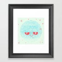 Chill Space Planet Framed Art Print