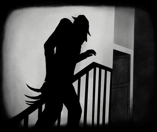 Nightmare in German Film Art Print