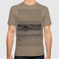 Seafoam Wave Mens Fitted Tee Tri-Coffee SMALL