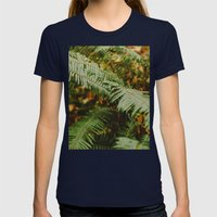 Fern Womens Fitted Tee Navy SMALL