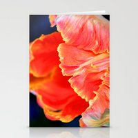 Fire Orange Bloom Stationery Cards