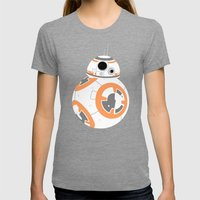 BB-8 Pattern Womens Fitted Tee Tri-Grey SMALL