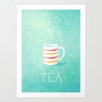 tea Art Prints featuring Tea by Freeminds