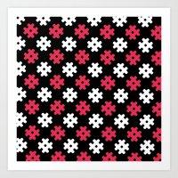 Hashtag Pattern Art Print