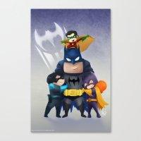 Bat-Family Canvas Print