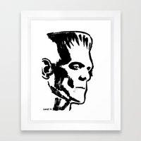 Frankenstein (Boris Karloff) Framed Art Print