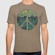 Peaceful Landscape Mens Fitted Tee Tri-Coffee SMALL