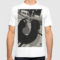 The Gato. Mens Fitted Tee White SMALL