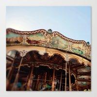 Carousel In Marseille Canvas Print