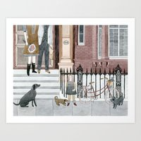 Family Out Art Print