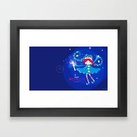MAHOU SHOJO BUBBAH - Magical girl Bubbah- Framed Art Print