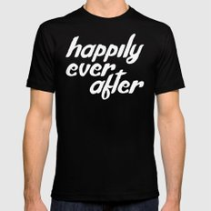 happily ever after SMALL Black Mens Fitted Tee