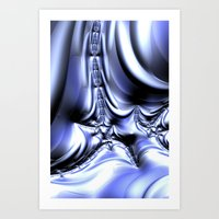 Cool Silver Art Print