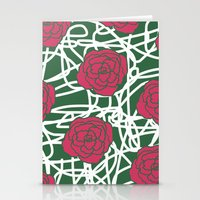 ROSE SQUIGGLE Stationery Cards