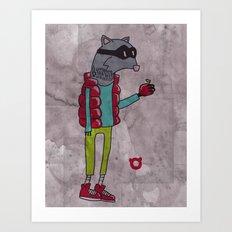 006_raccoon Art Print
