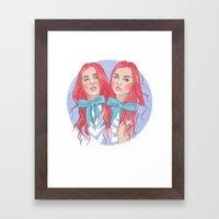 Follow the White Rabbit - Tweedles Framed Art Print