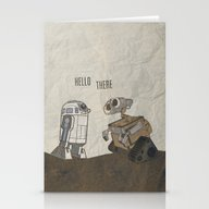 R2D2 And Wall E Stationery Cards