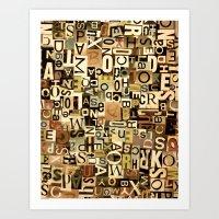 alphabet Art Prints featuring Alphabet by Kerri Swayze