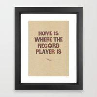 Home is where... Framed Art Print