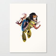 Flexing Dog Canvas Print