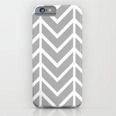 GRAY THIN CHEVRON Slim Case iPhone 6s