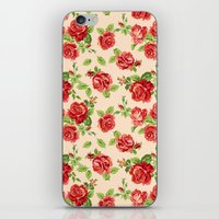Rose pattern- cream iPhone & iPod Skin