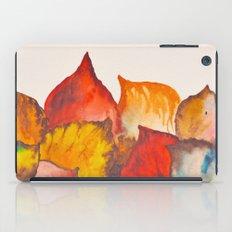 Autumn abstract watercolor 02 iPad Case
