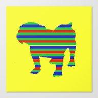 Bulldog Stripe Canvas Print