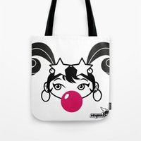 GIUPPY-Black & White Tote Bag
