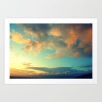 Clouds At The Tor Art Print