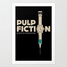 Pulp Fiction (portrait)  Art Print
