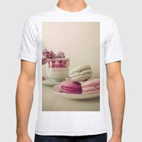 Lilac and Macaroons Mens Fitted Tee Ash Grey SMALL
