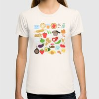 Cute Food Womens Fitted Tee Natural SMALL