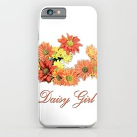 iPhone & iPod Case featuring daisy girl. orange, yellow daisy flowers photo art.  by NatureMatters