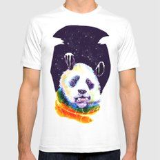 Panda Technicolor SMALL Mens Fitted Tee White