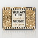 She Leaves a Little Sparkle Wherever She Goes iPad Case