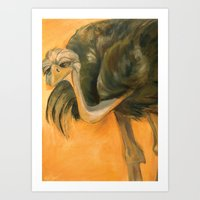 Ostriches Are Not Awkward Art Print