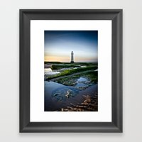 Rock Light Reflections Framed Art Print