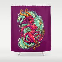 SHE-KRAMPUS Shower Curtain