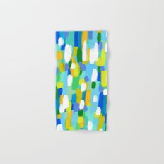 MEET ME IN THE WOODS  Original Abstract Painting by Lenna Arty Hand & Bath Towel
