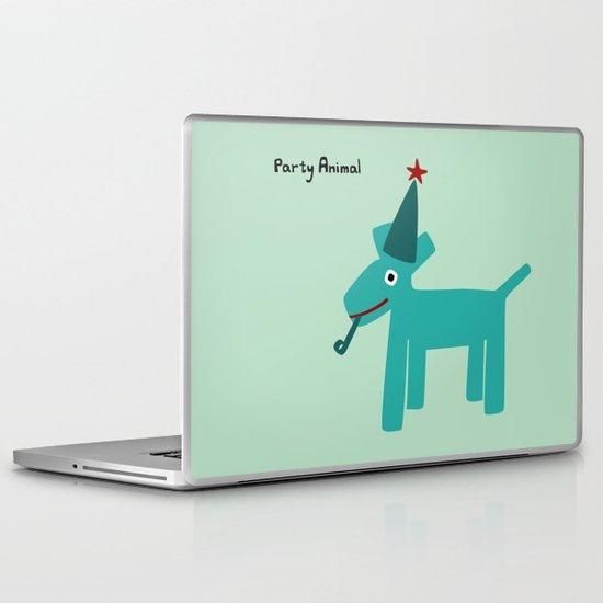 Party Animal-Teal Laptop & iPad Skin