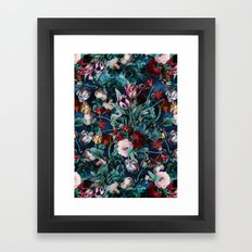 NIGHT FOREST X Framed Art Print