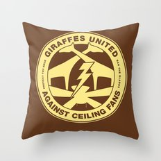 Giraffes United Against Ceiling Fans Throw Pillow