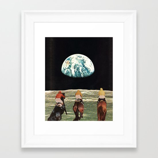 race for the prize Framed Art Print