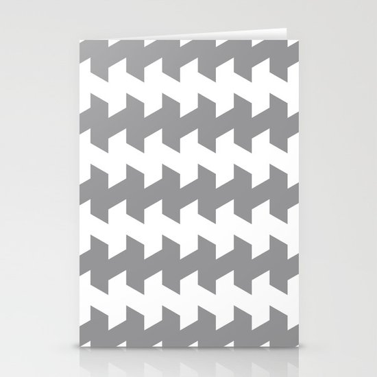 jaggered and staggered in alloy Stationery Card