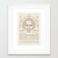 Knitted Dude Framed Art Print