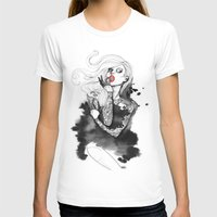 WMNART Womens Fitted Tee White SMALL