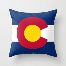 Colorado State Flag - Authentic version Throw Pillow