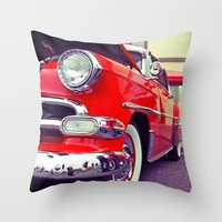 Classic red Throw Pillow